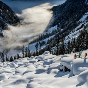 Skiers: Callum Pettit, Kye Petersen, and Eric Crossland Photographer: Blake Jorgenson
